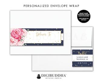 Floral Return Address Label Custom Envelope Wrap Address Sticker Wrap Around Label Return Address Labels DiY Printable Wrap Labels - Jenn