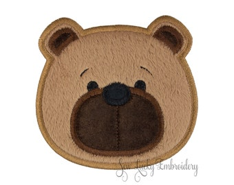 Bear Patch - Bear Applique - Teddy Bear Patch - Bear Iron on - Embroidered Patch - Iron On Patch - Sew On Patch - Animal Patch
