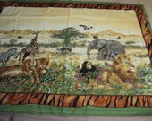 fabric panel of African Animals