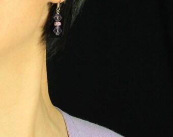 Simple drop earrings bridesmaid Free US Shipping handmade Anni Designs