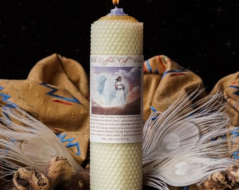 White Buffalo Calf Woman Candle