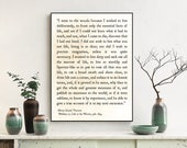 Henry David Thoreau Quote Print, I Went to the Woods, Thoreau Quote, Walden Quote, Nature Quote, Literature Print, Large Wall Art, Book Art