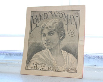 Lovely Woman A Collection of Fun Fancy and Fact Antique 1800s Hood's Sarsaparilla Advertising Booklet