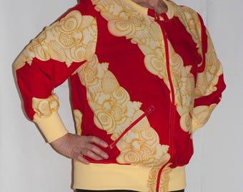 Colourful bomber jacket