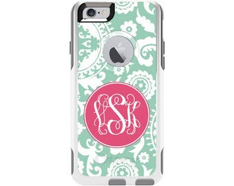 Solid Medallion Personalized Custom Otterbox Commuter Case for iPhone 6 and iPhone 6s