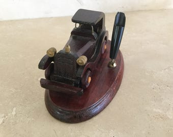 Half Price Sale. Vintage Model T Car Pen Holder / Desk Accessory / Office