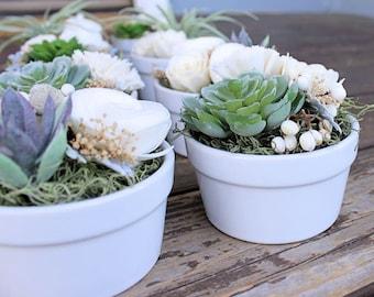 Faux Succulent Wedding Favors, Reception Centerpiece, Sola Wood Flowers, Placecard Holder, Home Decor, Wedding Decor, Baby Shower