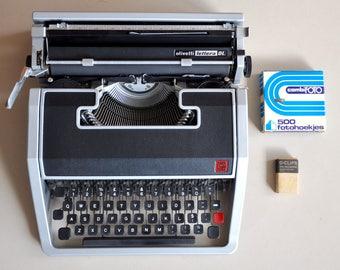 Olivetti Lettera DL typewriter | Olivetti typewriter | portable typewriter | working typewriter | QWERTY typewriter
