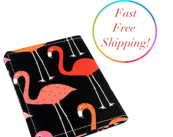 Flamingo Wallet, Womans Wallet, Slim Wallet, Travel Wallet, Flamingo Gift, Credit Card Case, Credit Card Wallet, Pink Flamingo