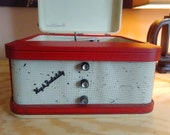 Vintage 1960s Symphonic Suitcase Record Player, totally rebuilt. tube amp, new parts