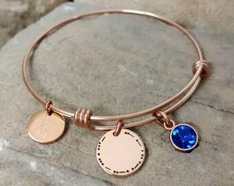 Morse Code Jewelry - Best Friend Bracelet - Morse Code Bracelet - Best Friend Jewelry -Best Friend Gift - Sister Bangle - Friend Birthday
