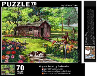 70 piece PUZZLE from the pastel painting Fay's II