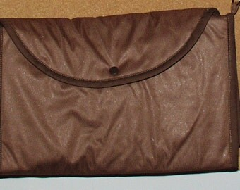Baby Travel Change N Go Purse/Pad with Pockets-Brown and Cupcakes Water and Urine Resistant Free Shipping