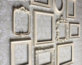 white picture frames frame set wall gallery vintage style shabby chic wedding - White Vintage Picture Frames