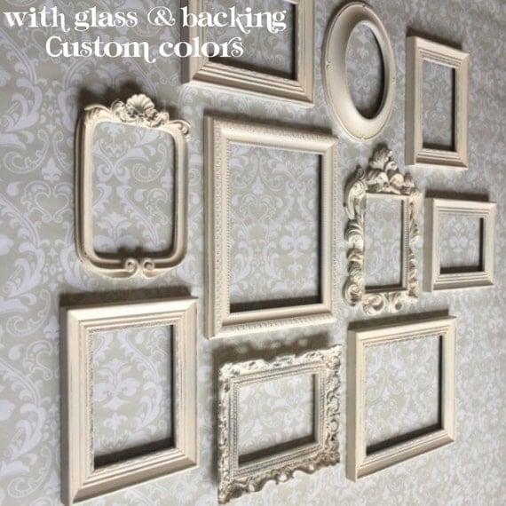 white picture frames frame set wall gallery vintage. Black Bedroom Furniture Sets. Home Design Ideas