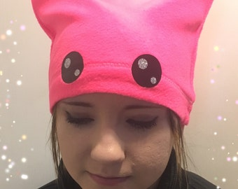 Pink Pussy Hat - Free Priority Shipping - Women's March - Pink Cat Hat- Pink Kitty Hat