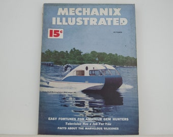 Mechanix Illustrated Magazine, October 1950 - Great Condition, Tips,  Science, Technology, Hundreds of Vintage Ads