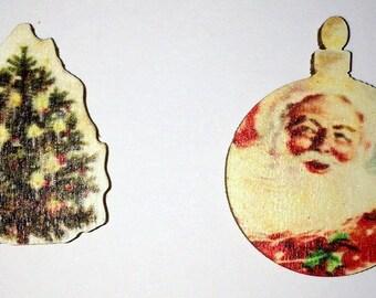 Christmas Needle Minder, Santa Needle Minder, Festive Needle Keep, Pin Holder, Fridge Magnet.  Stitch Minder, Needle Holder,  Christmas Tree