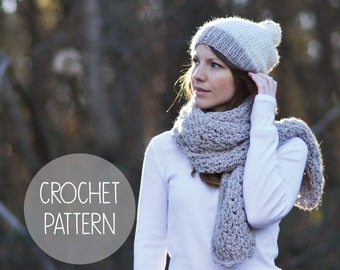 crochet pattern - easy crochet open scarf - the penelope scarf