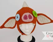 Bokoblin Mask, BOTW, Zelda, Link, Crochet by Allie, Breath of the wild