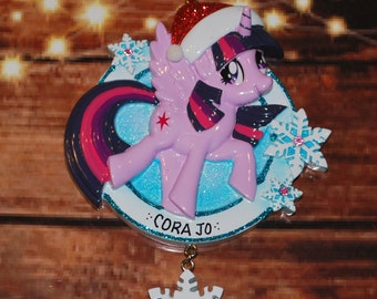 My Little Pony Twilight Sparkle with Snowflake Christmas Ornament