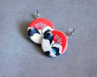Ceramic Photo Earrings : 1 Inch Hypoallergenic Jewelry