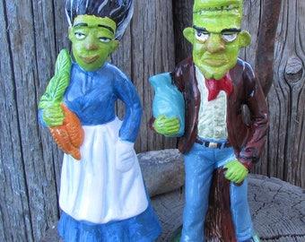 Frankenstein's monsters Farmers altered monster figurines