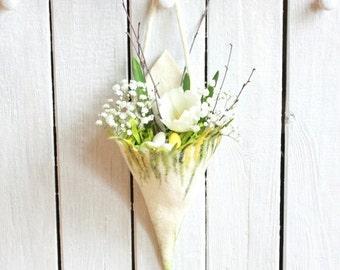Wedding cones/ decoration - felted wool cone - wedding decoration