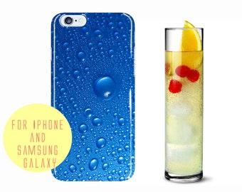 Raindrop Phone Case Samsung Galaxy s7 Edge Case Blue Samsung Galaxy S7 Case Rain Drops iPhone 7 Plus Case Teal Blue Phone Case Sea Blue Case