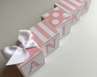 Custom Baby Name Blocks Baby Gift Baby Shower Newborn Nursery Decor Photography Boy Girl Glitter Bling