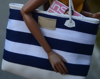 MADE TO ORDER -- Summer Beach Bag for 12in Fashion Dolls