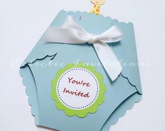Sample animal theme invitations - babyshower, birthday party, boy or girl.