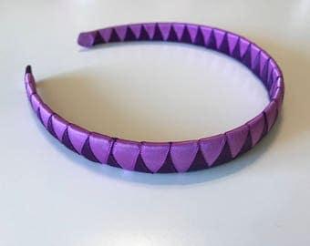 Purple and Dark Purple Woven Headband, Girls/Toddlers