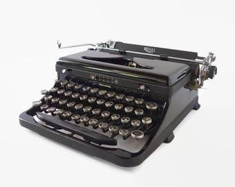 Royal Typewriter Speed King, Aristocrat Glass Keys Vintage Industrial