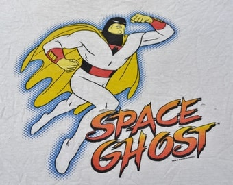 Thrashed Space Ghost Coast To Coast Shirt Cartoon Network Aqua Teen Hunger Force Brak T-Shirt Tee Adult Swim Adventure Time Size XL