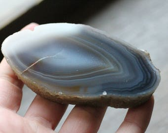Thick Agate Slab with Polished Front #83122