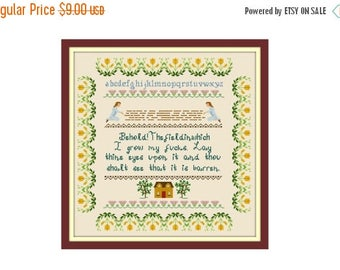 PATTERNPALOOZA STOCK UP Behold The Field Where I Lay My Cross Stitch Pattern - Cross Stitch Sampler - Funny Cross Stitch