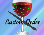 Custom Handpainted Birthday Wine Glass