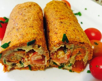Raw Vegan Organic Carrot Celery Flax Seed  Bread 10 pieces.
