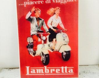 Lambretta A Lartte Handmade Vintage Wall Tile