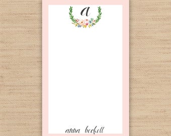 Personalized Notepad // Custom Notepad // To Do List // Available in 3 sizes - 3.4 x 5.75 in \ 5.5 x 8.5 in \ 8.5 x 11