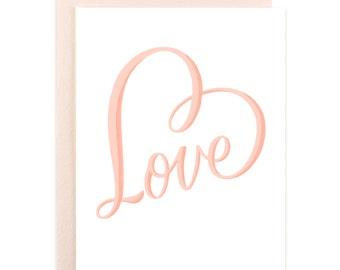 Blank Romantic LOVE Card, Love for Friend, Love Boyfriend, Love Girlfriend, Love Wife, Love Husband, Love Sister, Love Mom Love Parents