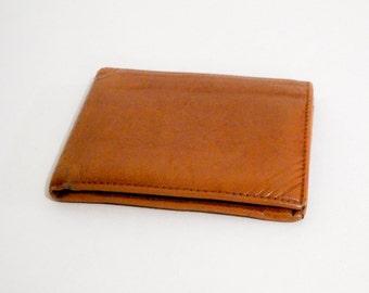 Vintage Mens Italian Leather Wallet Bifold 1970s