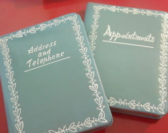 Vintage Desk Set - 2 Piece - Address Telephone Book And Appointments Book