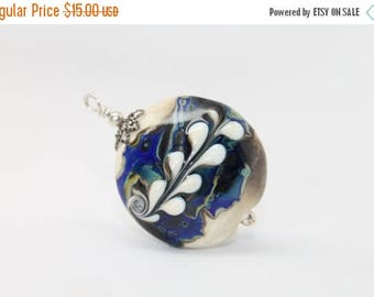 30% OFF SALE Large . Bold . Lampwork Pendant .  by Lori Davidson . Very Glassy Gifts