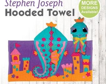 Seahorse Hooded Towel, Stephen Joseph Hooded Towel, Kids Beach Towel, Hooded Bath Towel, Sea Creature Towel, Hooded Towel for Kids