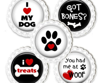 Dog Magnet Set Kitchen Office Locker Magnets Love My Dog