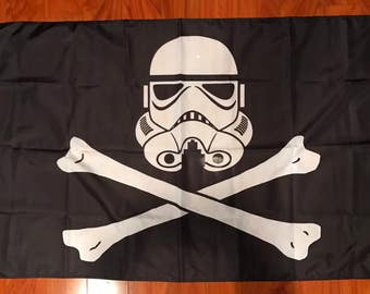 Star Wars Storm Troopers Pirate  3'x5' Feet  Flag Banner Darth Vader USA Seller