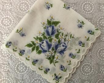 Vintage Print Handkerchief