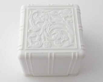 Vintage White Celluloid Ring Box Ring Display Two Piece Vintage Ring Box from TreasuresOfGrace